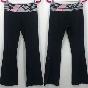 Lululemon Astro Reversible Black Flare Leggings 6